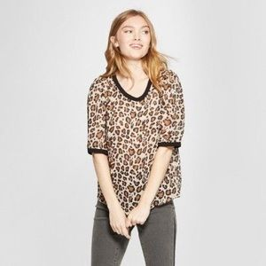 NWT A New Day Leopard-print top size medium
